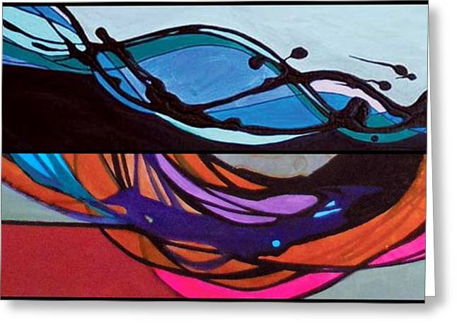 Abstract Expression Greeting Cards - j HOT 10 Greeting Card by Marlene Burns