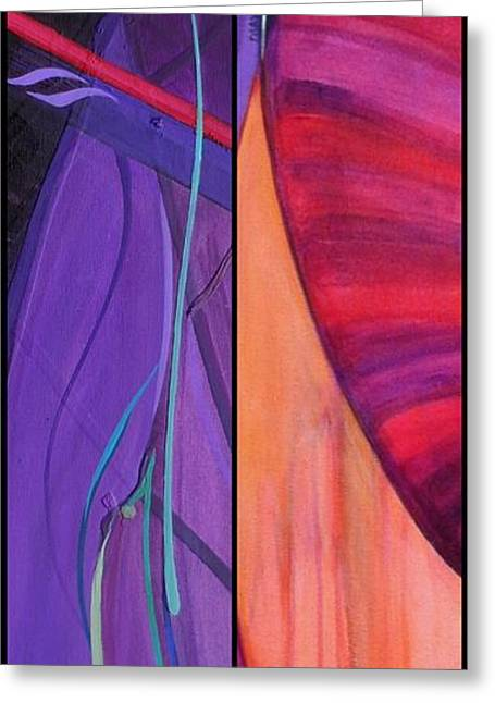Abstract Expression Greeting Cards - j HOT 13 Greeting Card by Marlene Burns