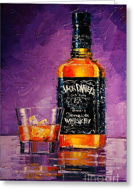 Daniel Paintings Greeting Cards - Jack Daniels Greeting Card by Mona Edulesco