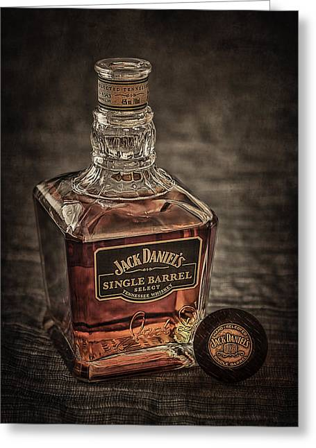 Beverage Greeting Cards - Jack Daniels Single Barrel Greeting Card by Erik Brede