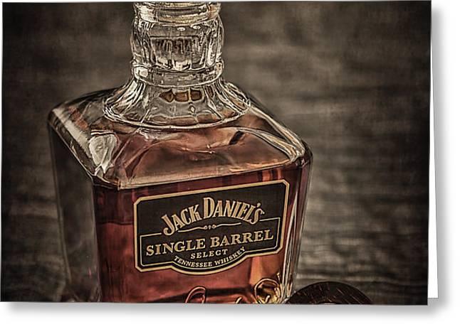 Jack Daniel's Single Barrel Greeting Card by Erik Brede
