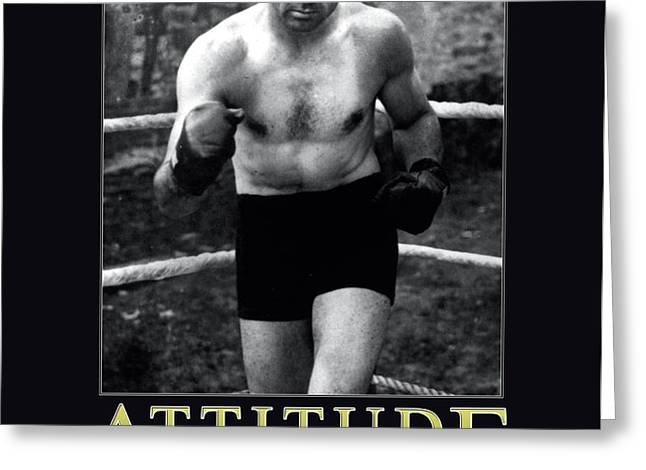 Jack Dempsey Attitude Greeting Card by Retro Images Archive