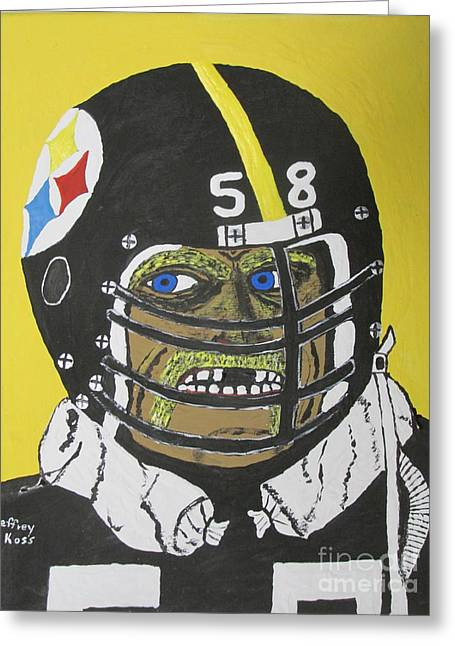 Missing Teeth Greeting Cards - Jack Lambert Greeting Card by Jeffrey Koss