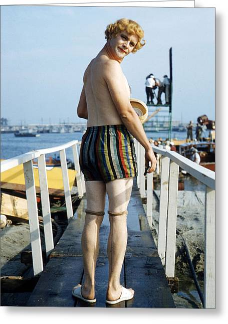 Some Like It Hot Greeting Cards - Jack Lemmon in Some Like It Hot  Greeting Card by Silver Screen