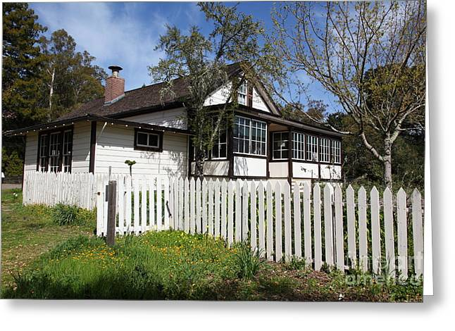 Sonoma Greeting Cards - Jack London Cottage 5D22122 Greeting Card by Wingsdomain Art and Photography