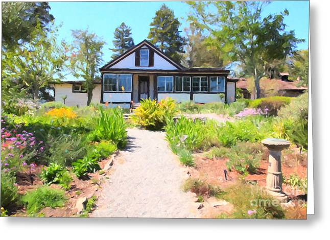 Jack London Countryside Cottage And Garden 5D24565 Greeting Card by Wingsdomain Art and Photography