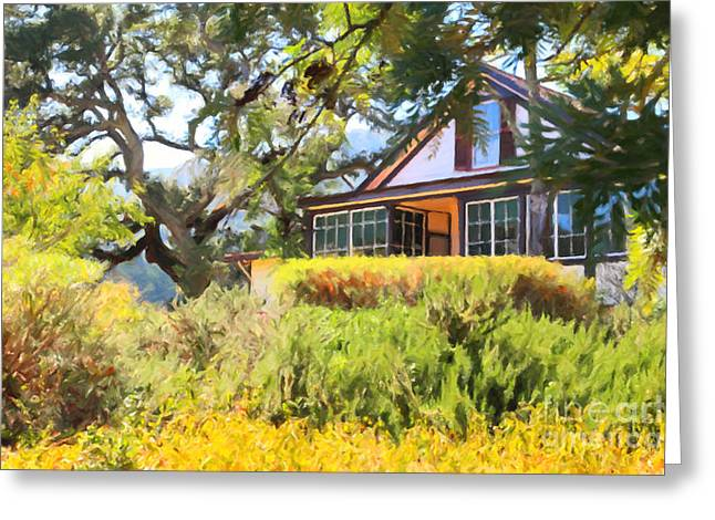 Napa Valley Digital Greeting Cards - Jack London Countryside Cottage And Garden 5D24570 Greeting Card by Wingsdomain Art and Photography