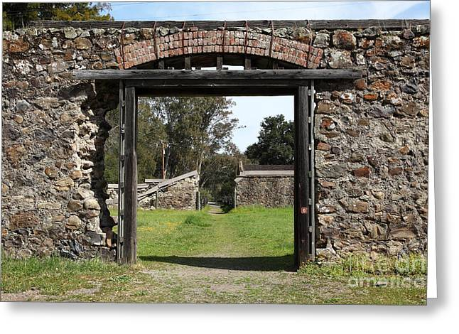Jack London Ranch Winery Ruins 5d22128 Greeting Card by Wingsdomain Art and Photography