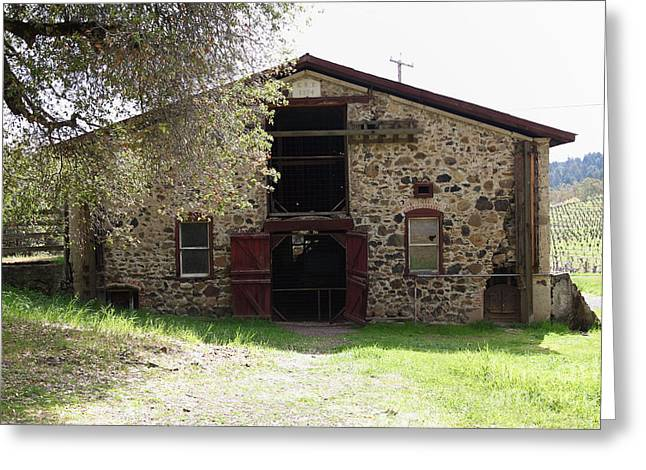 Sonoma Greeting Cards - Jack London Sherry Barn 5D22070 Greeting Card by Wingsdomain Art and Photography
