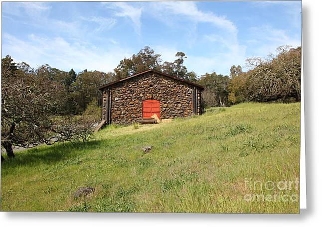 Sonoma Greeting Cards - Jack London Stallion Barn 5D22100 Greeting Card by Wingsdomain Art and Photography