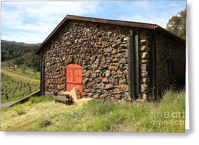Sonoma Valley Greeting Cards - Jack London Stallion Barn 5D22104 Greeting Card by Wingsdomain Art and Photography