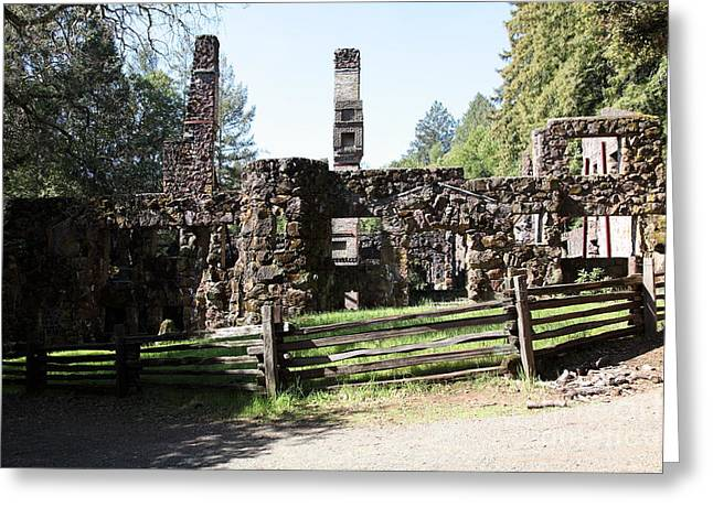 Jack London Wolf House 5d22040 Greeting Card by Wingsdomain Art and Photography