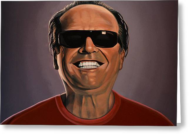 Listed Greeting Cards - Jack Nicholson 2 Greeting Card by Paul  Meijering