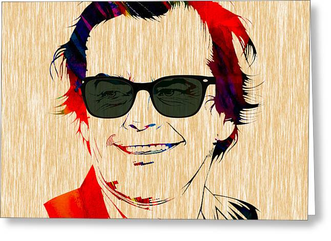 Nicholson Greeting Cards - Jack Nicholson Collection Greeting Card by Marvin Blaine