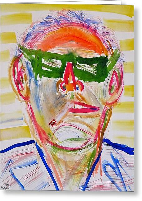 The Lakers Greeting Cards - Jack Nicholson Greeting Card by Troy Thomas
