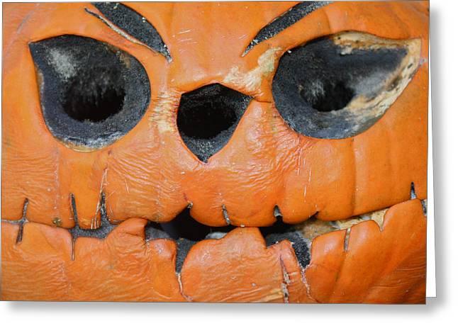 Apples; Bobbing; Apple Greeting Cards - Jack O Lantern Greeting Card by Carol Mallillin-Tsiatsios