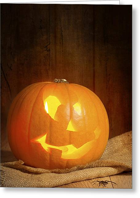 Burning Greeting Cards - Jack O Lantern Greeting Card by Amanda And Christopher Elwell