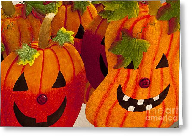 Commercial Photography Greeting Cards - jack-o-lantern Faces Greeting Card by Iris Richardson