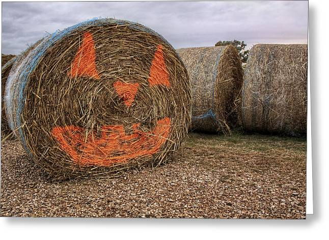 Jack-O-Lantern Hayroll Greeting Card by Jason Politte