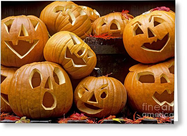 Holloween Greeting Cards - Jack O Lantern Greeting Card by Jim Corwin