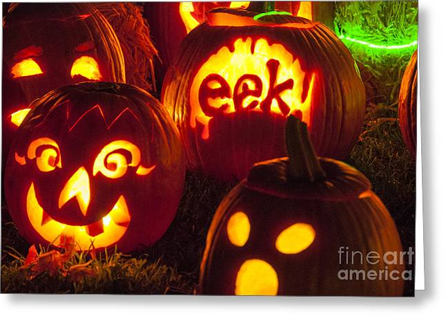 Pumpkins Greeting Cards - Jack O Lanterns Greeting Card by Juli Scalzi
