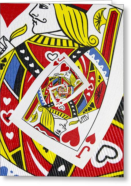 Playing Digital Art Greeting Cards - Jack of Hearts Collage Greeting Card by Kurt Van Wagner