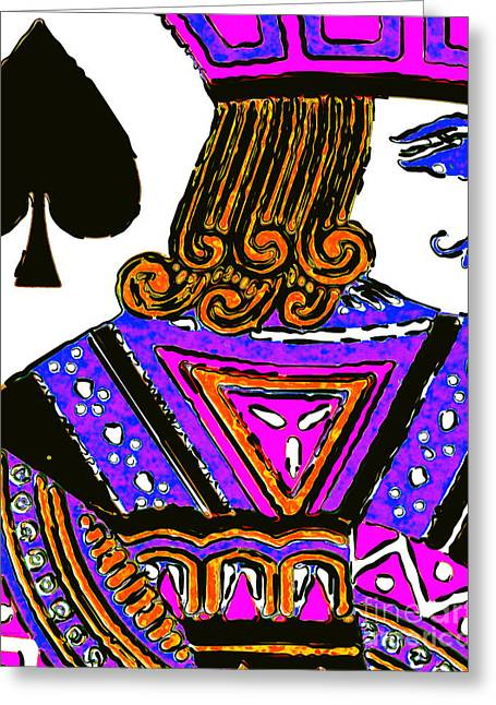 Deck Of Cards Greeting Cards - Jack of Spade 20140812 Greeting Card by Wingsdomain Art and Photography