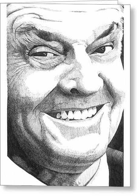 Pen And Ink Drawing Greeting Cards - Jack Greeting Card by Paul Shafranski