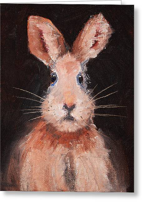 Hare Greeting Cards - Jack Rabbit Greeting Card by Nancy Merkle