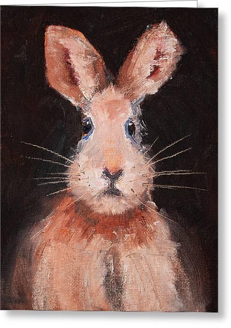 Critters Greeting Cards - Jack Rabbit Greeting Card by Nancy Merkle