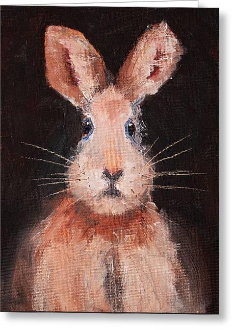 Jack Rabbit Greeting Card by Nancy Merkle