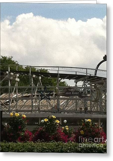 Kennywood Park Greeting Cards - Jack Rabbit Roller Coaster Greeting Card by Michael Krek