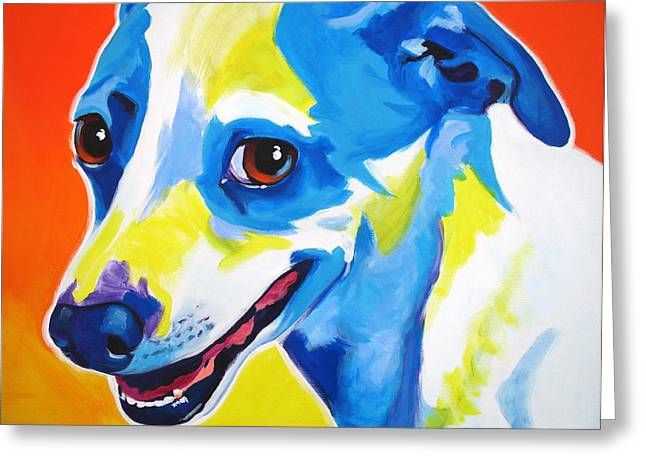 Jack Russell Terrier Greeting Cards - Jack Russell - Skippy Greeting Card by Alicia VanNoy Call