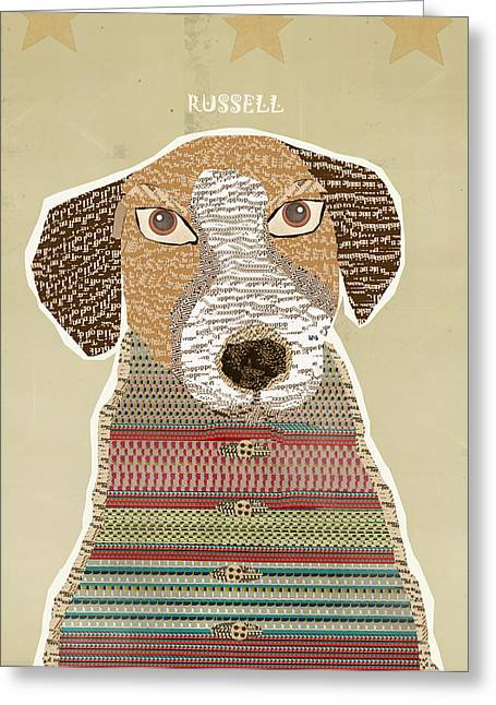 Mutt Jack Greeting Cards - Jack Russell Greeting Card by Bri Buckley