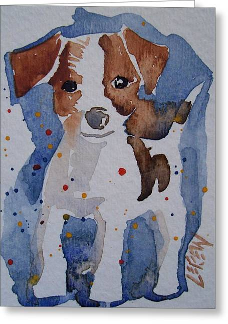 Puppies Drawings Greeting Cards - Jack Russell Greeting Card by Larry Lerew