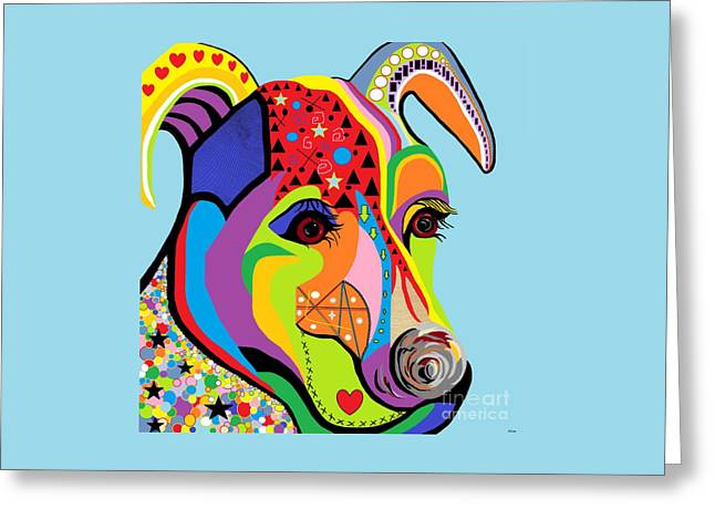 Surreal Geometric Greeting Cards - Jack Russell Terrier Greeting Card by Eloise Schneider