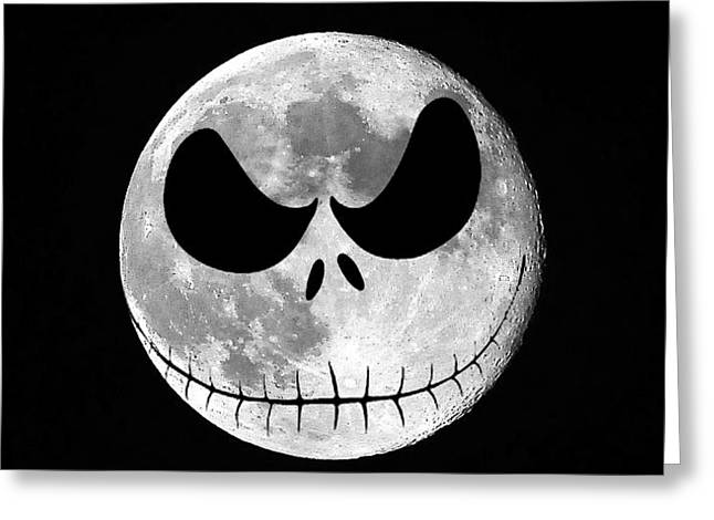 Al Powell Photography Usa Greeting Cards - Jack Skellington Moon Greeting Card by Al Powell Photography USA