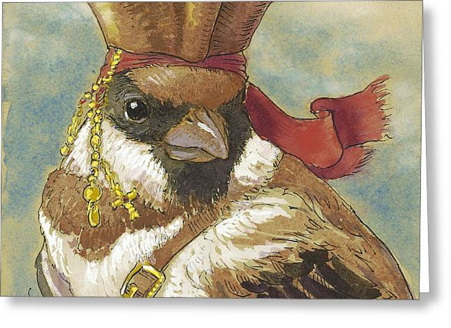 Pirates Mixed Media Greeting Cards - Jack Sparrow 2 Greeting Card by Tracie Thompson