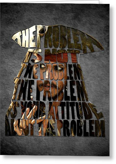 Pirates Of The Caribbean Greeting Cards - Jack Sparrow Quote Portrait Typography artwork Greeting Card by Georgeta Blanaru