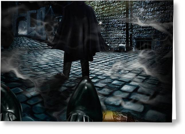 Puddle Digital Art Greeting Cards - Jack the ripper Greeting Card by Alessandro Della Pietra