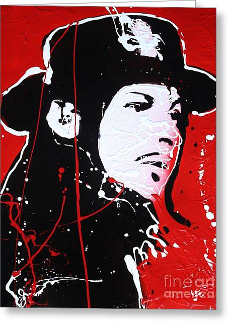 Jack White Greeting Card by Michael Kulick