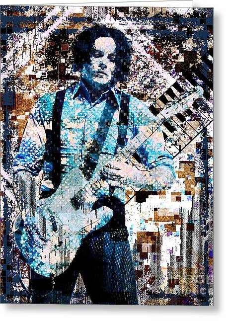 Jack White Greeting Cards - Jack White - Original Painting Art Print Greeting Card by Ryan RockChromatic