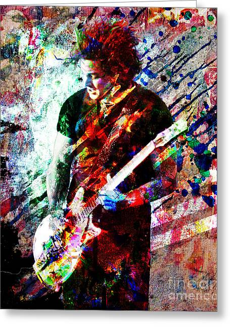 Jack White Greeting Cards - Jack White Original Painting Print Greeting Card by Ryan RockChromatic