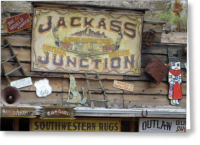 Jack Ass Greeting Cards - Oatmans Finest Greeting Card by Jim Romo