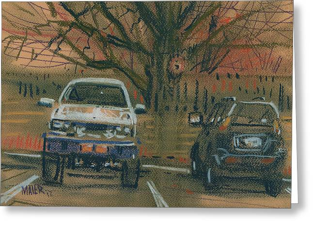 Car Pastels Greeting Cards - Jacked Up Greeting Card by Donald Maier