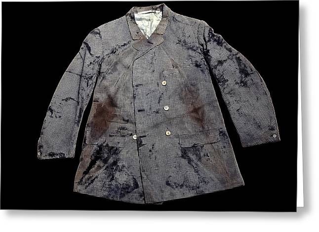 White Cloth Greeting Cards - Jacket from the Titanic Greeting Card by Science Photo Library