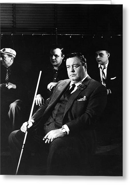 Jackie Gleason In The Hustler Greeting Card by Silver Screen