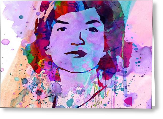 Jackie Kennedy Watercolor Greeting Card by Naxart Studio
