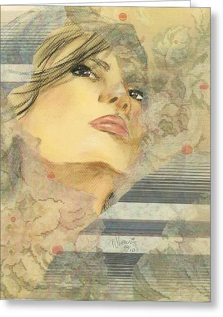 Jackie Kennedy Greeting Cards - Jackie Greeting Card by P J Lewis