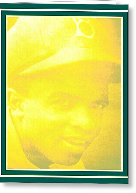 Red Sox Mixed Media Greeting Cards - jackie Robinson 2 Greeting Card by Tracie Howard
